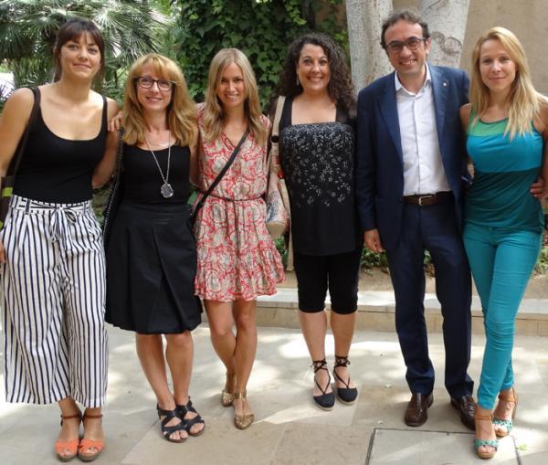 El equipo de FAADA con el Conseller de Territori i Sostenibilitat Josep Rull i Andreu