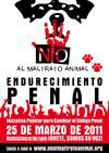 El día 25-03-11 convocadas manifestaciones en toda España contra el maltrato animal