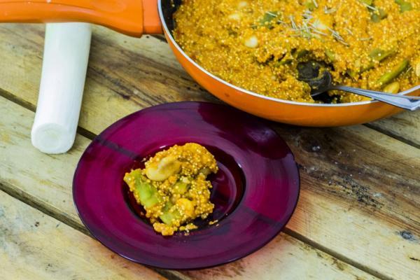 #LunesSinCarne: Paella de quinoa
