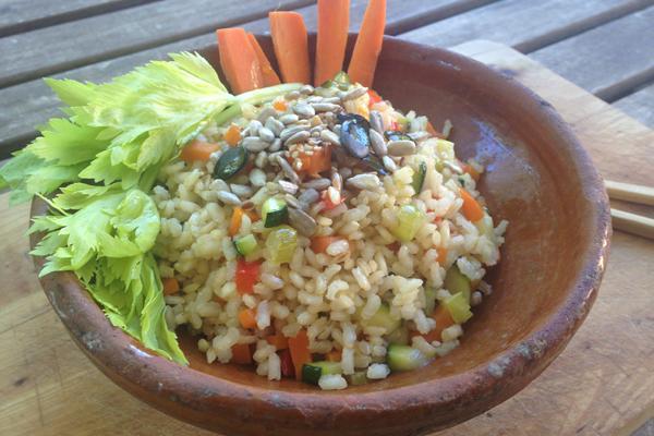 #LunesSinCarne: Arroz integral con verduras y tahine