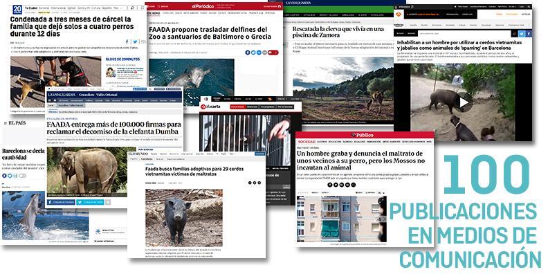 Más de 100 publicaciones en medios en lo que va de año