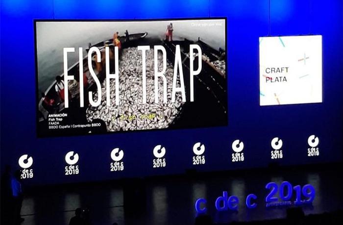 Nuestra campaña #FishTrap ganadora en el Festival del Club de Creativos de España
