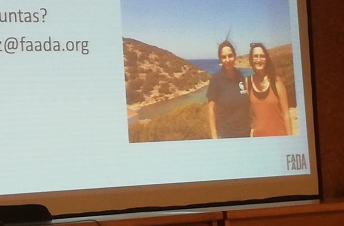 Hablamos de santuarios para cetáceos con estudiantes de veterinaria