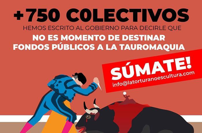 Junto a más de 800 entidades pedimos que no se destinen subvenciones a la Tauromaquia