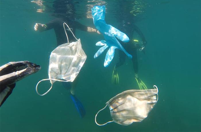 Los desechos de la COVID-19 ya están en nuestros mares