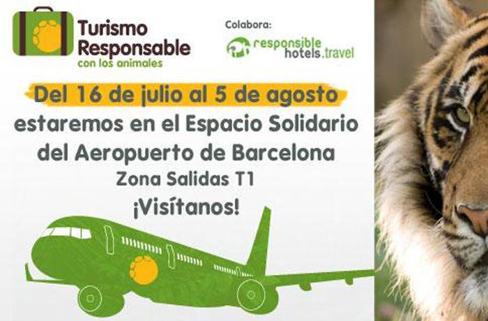 FAADA lleva al aeropuerto de Barcelona su campaña de Turismo Responsable con los animales