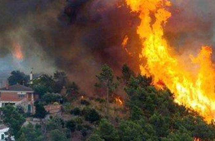 Solidaridad ciudadana en el incendio de Cervelló, Vallirana y Torrelles