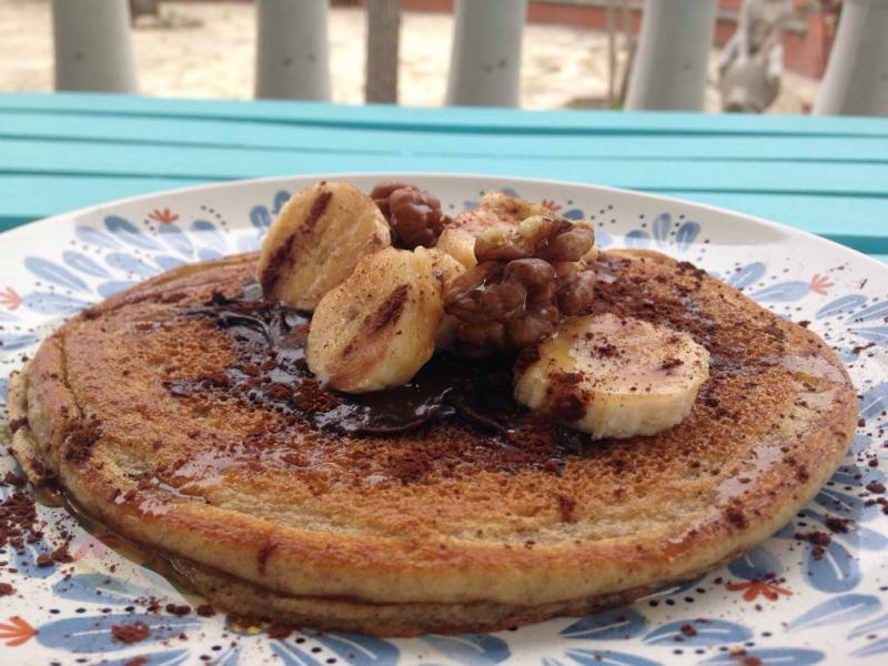 #LunesSinCarne: Tortitas de plátano y agave
