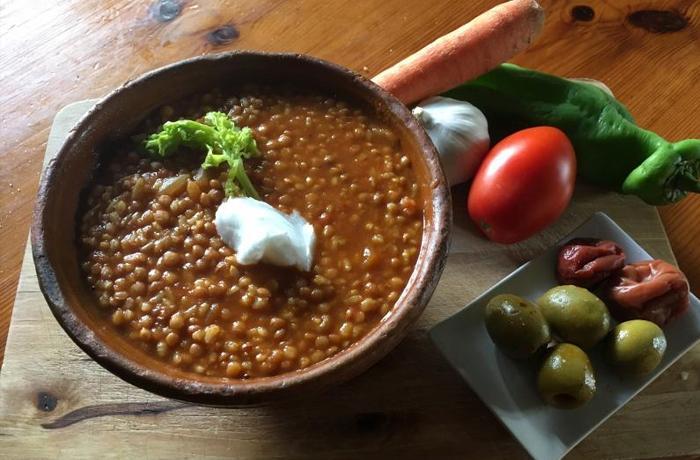 #LunesSinCarne: Lentejas, arroz y umeboshi