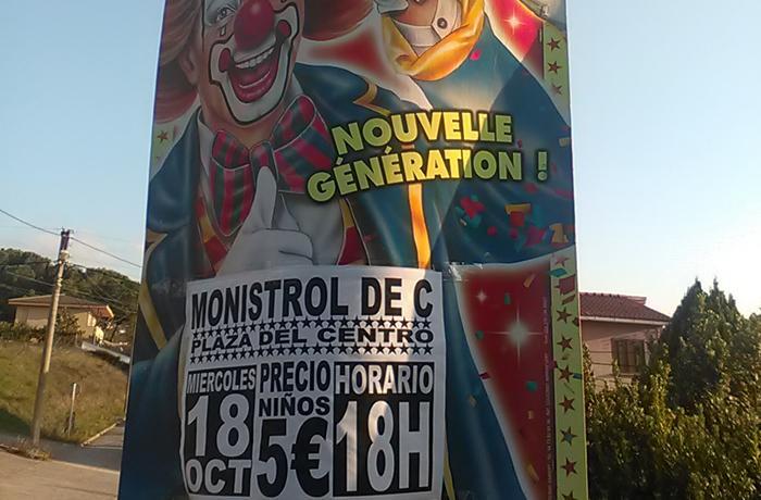 Detenemos la instalación de un circo con animales domésticos