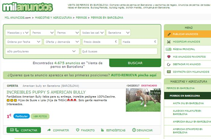 FAADA interpone una nueva denuncia contra Milanuncios ante el Ayuntamiento de Barcelona