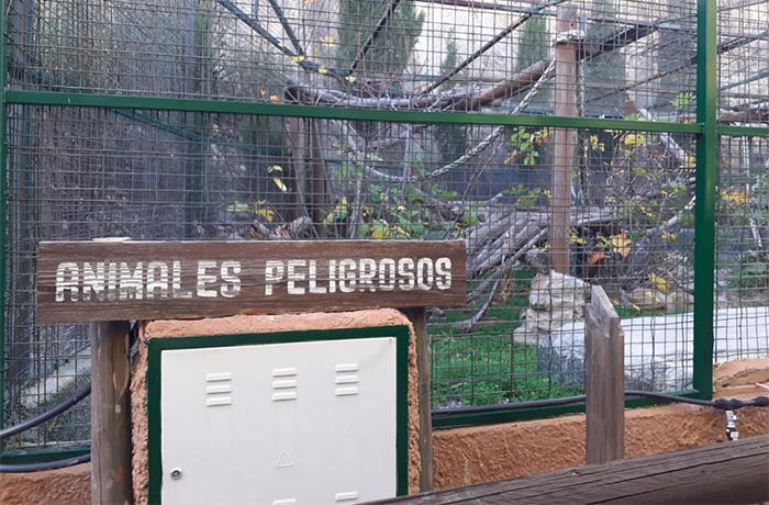 La tigresa del Zoo de Almuñecar se ha trasladado hoy al centro de AAP Primadomus