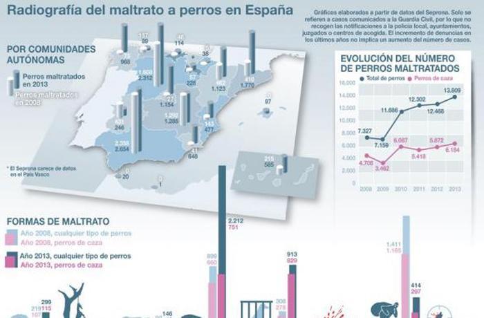 Radiografía de los casos de maltrato a perros en España