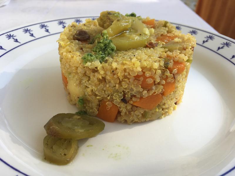 #LunesSinCarne: Quinoa a la jardinera